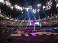 Moving Head Sky Searchlights have been used in the Opening Ceremony of Badminton Match