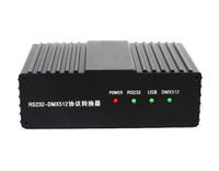How does the central control system (232) in the meeting room control DMX512 signal lamps?